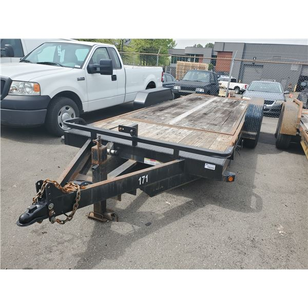 2010 BIG TEX 14TL-20 TANDEM TRAILER, BLACK, VIN # 16VCX2026A2359613