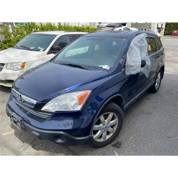 2008 HONDA CR-V AWD, 4DR SUV, BLUE, VIN # 5J6RE48558L810437