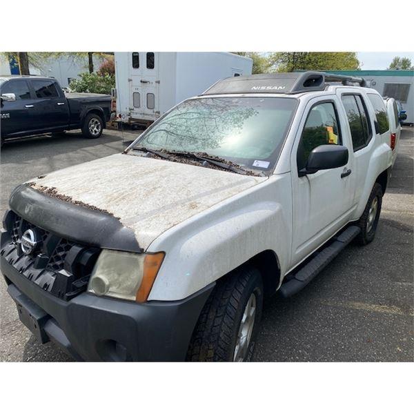 2005 NISSAN XTERRA, 4DR SUV, WHITE, VIN # 5N1AN08W55C638938