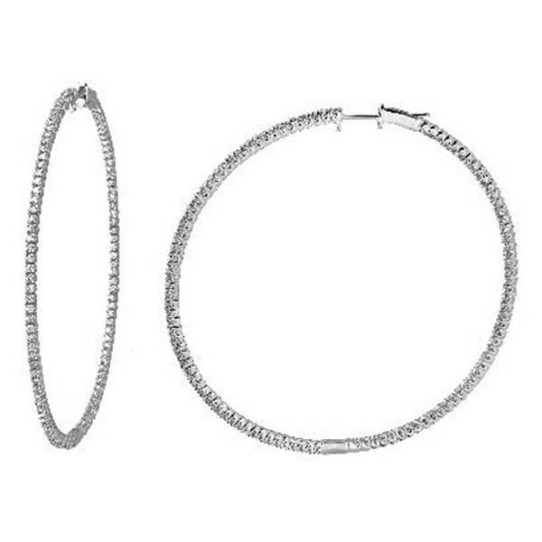 Natural 1.45 CTW Diamond Earrings 14K White Gold - REF-166R5K