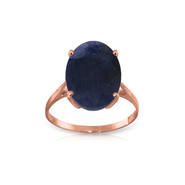 Genuine 8.5 ctw Sapphire Ring 14KT Rose Gold - REF-85F2Z