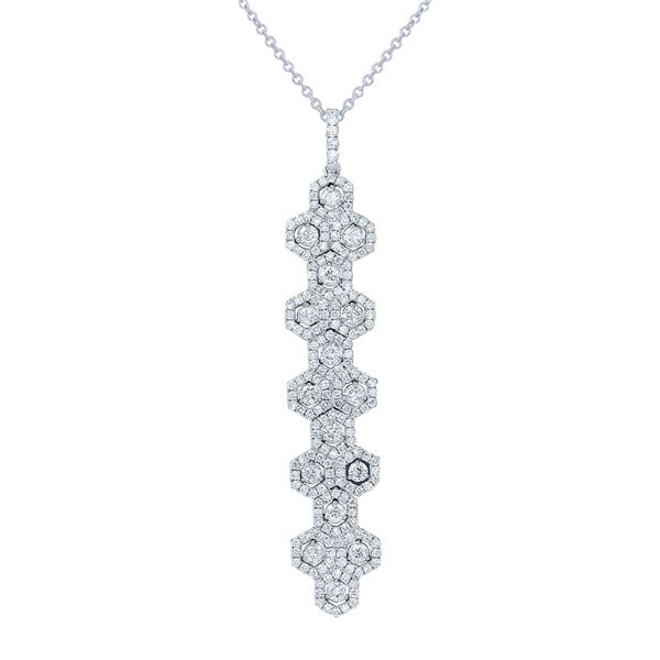 Natural 1.94 CTW Diamond Necklace 14K White Gold - REF-232M2F