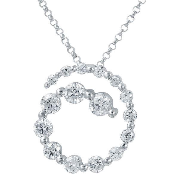 Natural 1.14 CTW Diamond Necklace 14K White Gold - REF-130R5K
