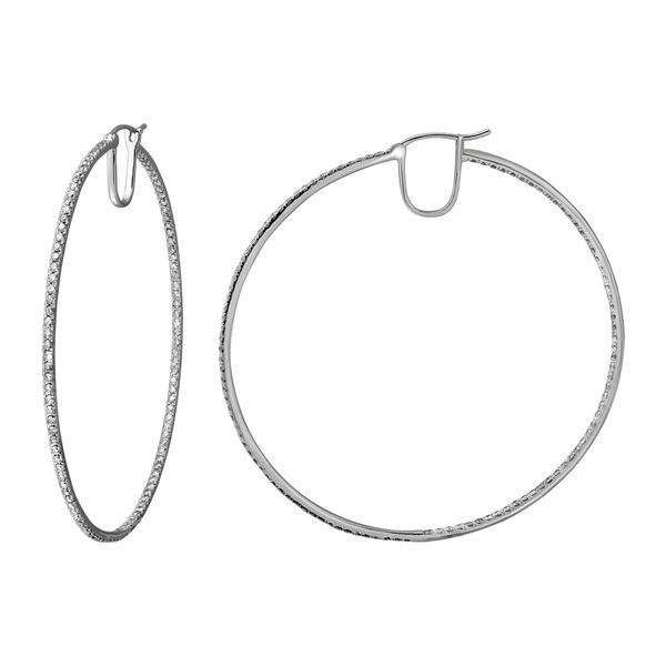 Natural 3.33 CTW Diamond Earrings 14K White Gold - REF-279H2W