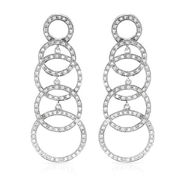 Natural 0.94 CTW Diamond Earrings 14K White Gold - REF-126H2W