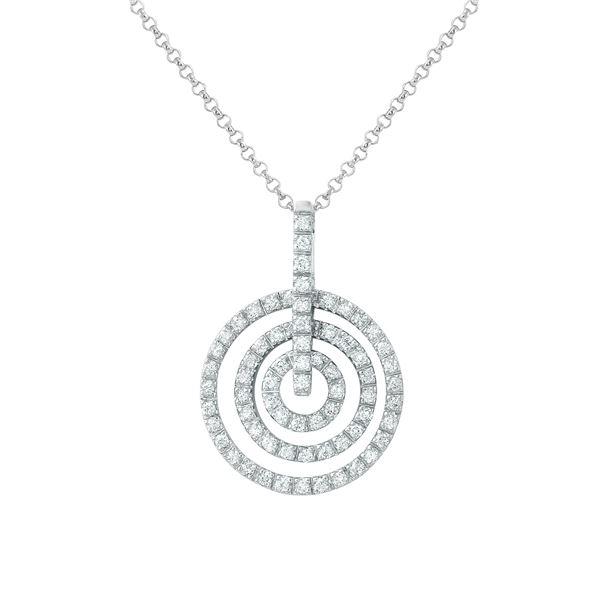 Natural 0.62 CTW Diamond Necklace 14K White Gold - REF-88X2T