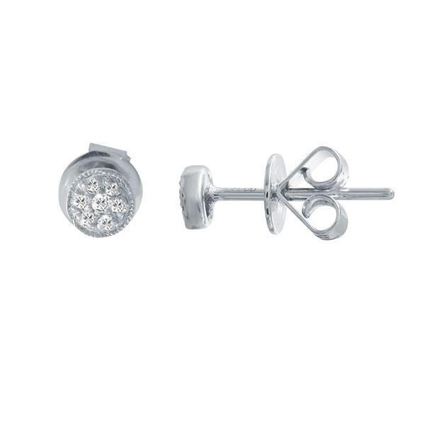 Natural 0.05 CTW Diamond Earrings 14K White Gold - REF-17M3F