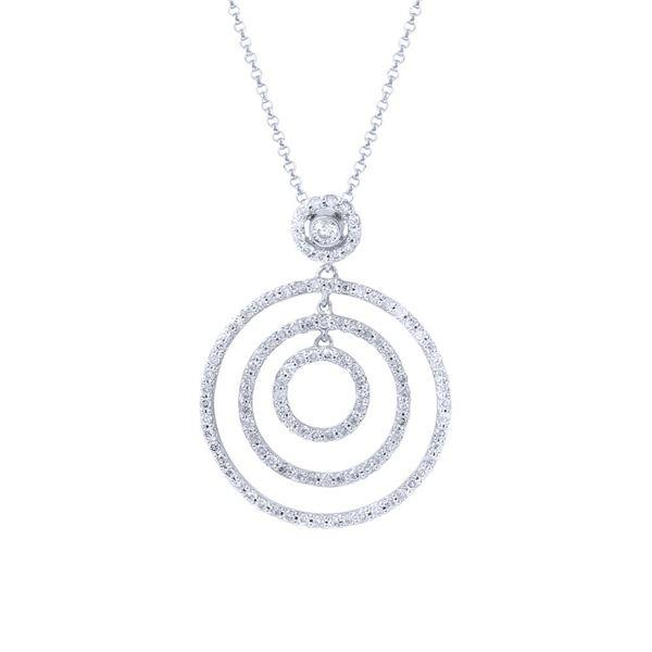 Natural 0.83 CTW Diamond Necklace 14K White Gold - REF-89R3K