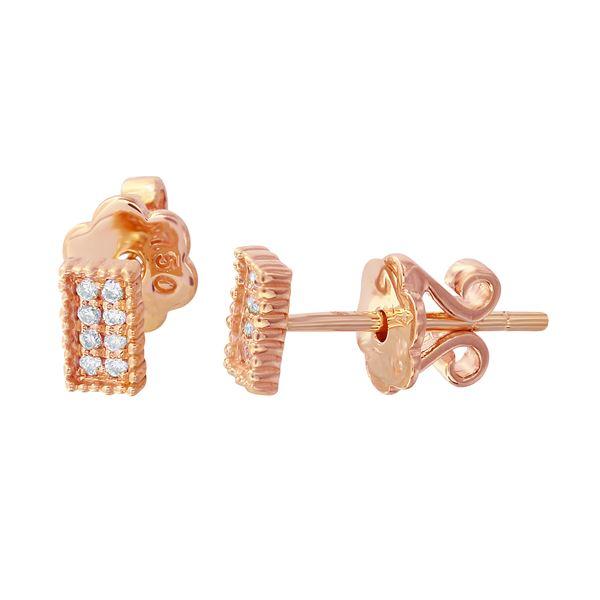 Natural 0.07 CTW Diamond Earrings 18K Rose Gold - REF-27H2W