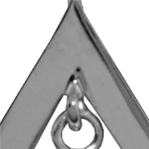 Genuine 0.70 ctw Citrine Necklace 14KT White Gold - REF-23K9V