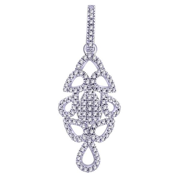 Natural 0.17 CTW Diamond & Pendant 14K White Gold - REF-19H8W