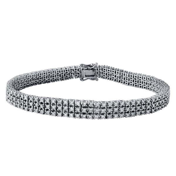 Natural 3.86 CTW Diamond Bracelet 18K White Gold - REF-503M3F