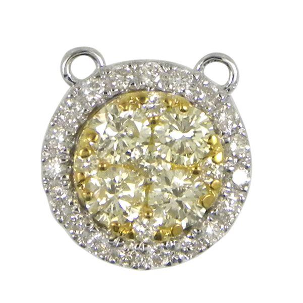 Natural 0.61 CTW Diamond Pendant 14K White Gold - REF-88K2R