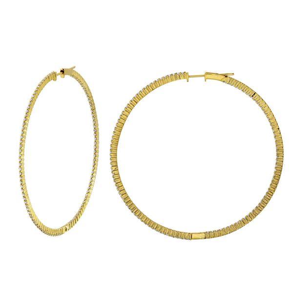 Natural 1.55 CTW Diamond Earrings 14K White Gold - REF-168T3X