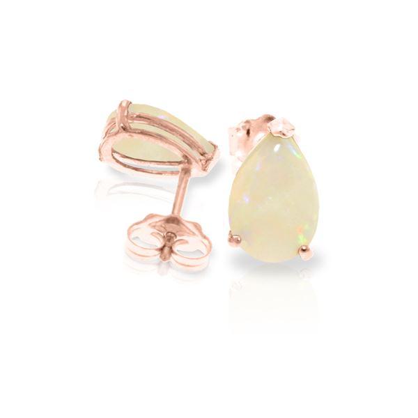 Genuine 1.55 ctw Opal Earrings 14KT Rose Gold - REF-22X8M