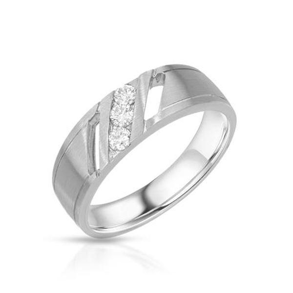 Natural 0.29 CTW Diamond Ring 14K White Gold - REF-105W3H