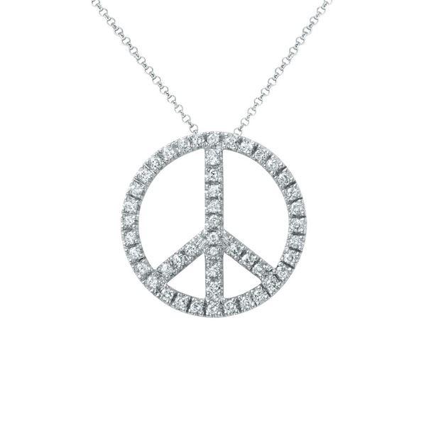 Natural 0.67 CTW Diamond Necklace 14K White Gold - REF-65F7M