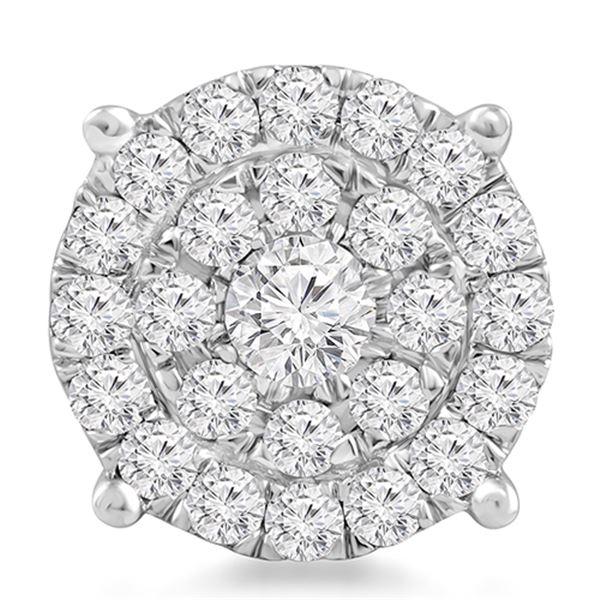 Natural 1.02 CTW Diamond & Head 14K White Gold - REF-103T5X
