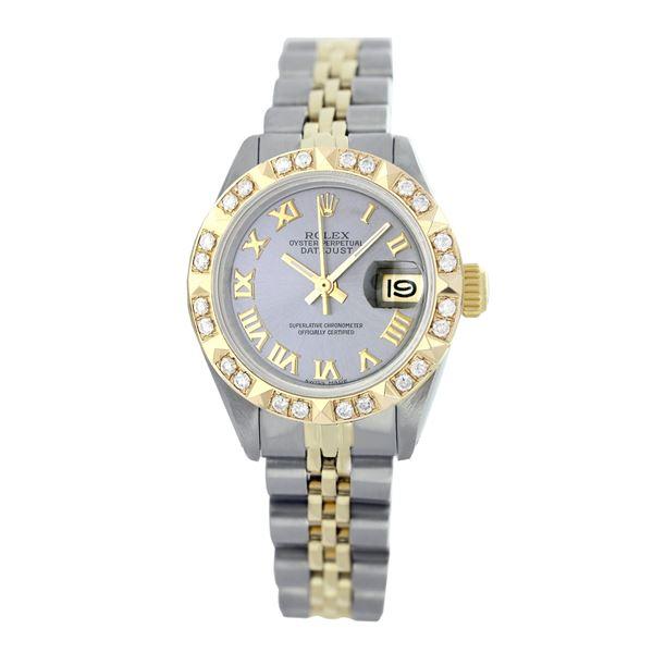 Rolex Pre-owned 26mm Womens Custom Grey Two Tone