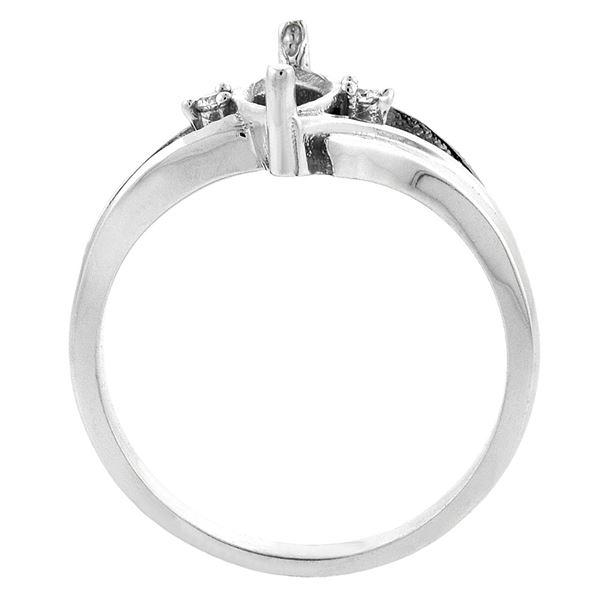 1.14 CTW Garnet & Diamond Ring 10K White Gold - REF-23A2X