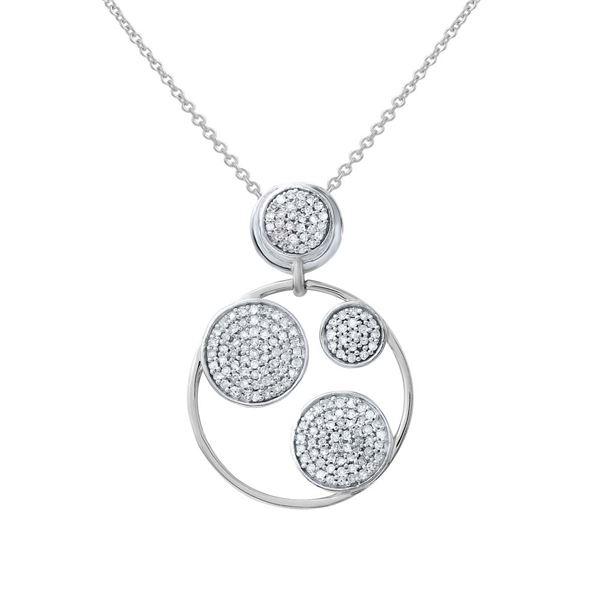 Natural 0.55 CTW Diamond Necklace 14K White Gold - REF-53T3X