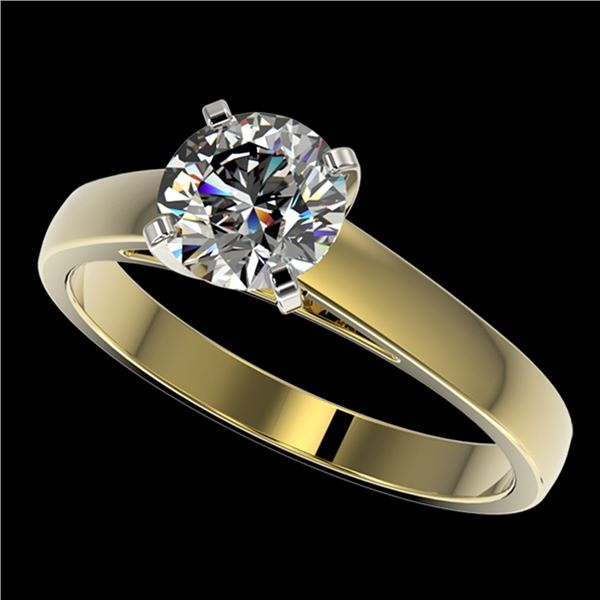 1.25 ctw Certified Quality Diamond Engagment Ring 10k Yellow Gold - REF-177F8M