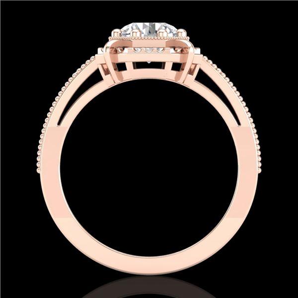 1 ctw VS/SI Diamond Solitaire Art Deco Ring 18k Rose Gold - REF-318N3F