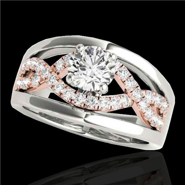 1.3 ctw Certified Diamond Solitaire Ring 10k 2Tone Gold - REF-190Y9X