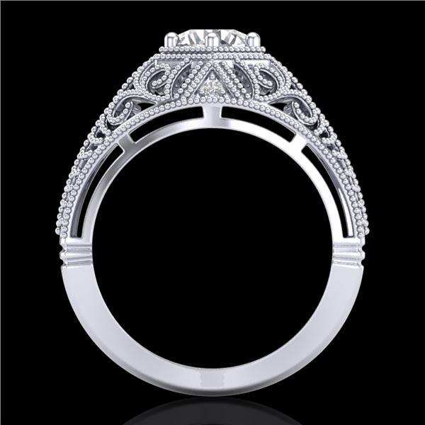 1.07 ctw VS/SI Diamond Art Deco Ring 18k White Gold - REF-322A5N