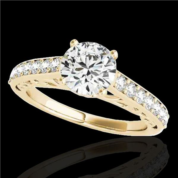 1.4 ctw Certified Diamond Solitaire Ring 10k Yellow Gold - REF-190X9A