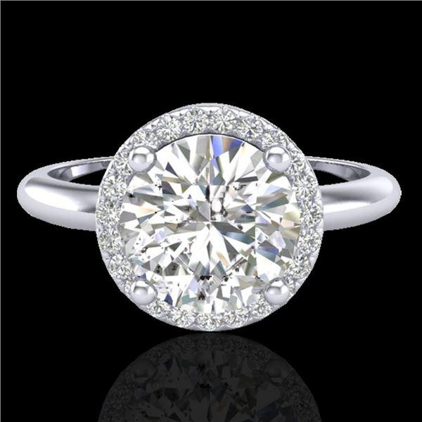 2.20 ctw Micro Pave VS/SI Diamond Ring Designer 18k White Gold - REF-834H5R
