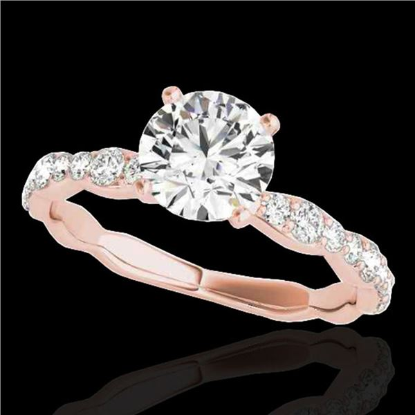 1.4 ctw Certified Diamond Solitaire Ring 10k Rose Gold - REF-197A8N