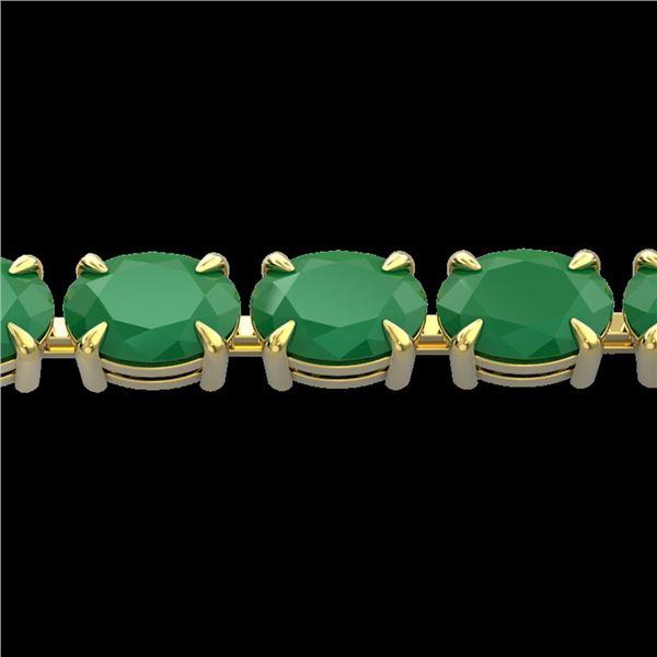 29 ctw Emerald Eternity Designer Bracelet 14k Yellow Gold - REF-180F2M
