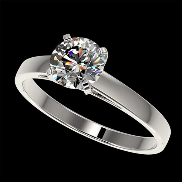 0.97 ctw Certified Quality Diamond Engagment Ring 10k White Gold - REF-139W2H