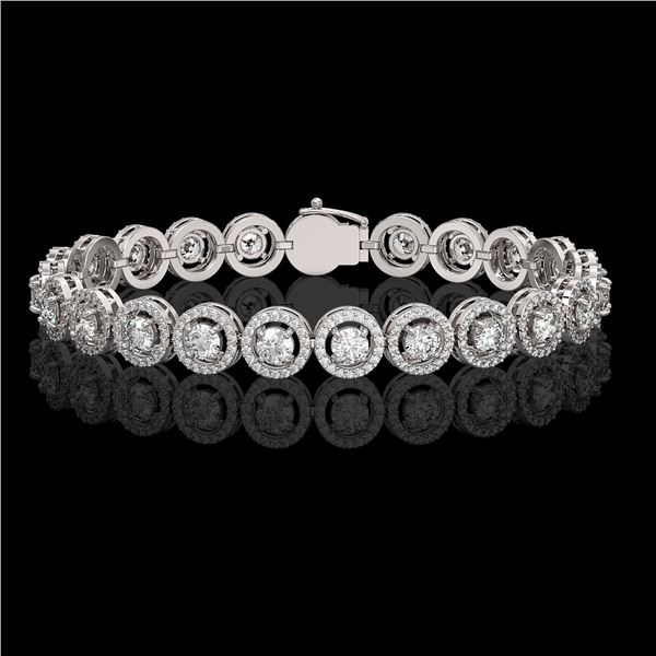 8.83 ctw Diamond Micro Pave Bracelet 18K White Gold - REF-695Y5X