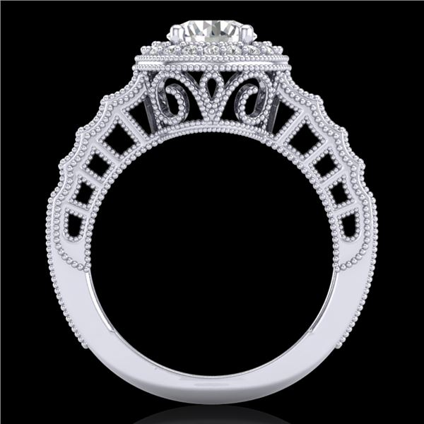 1.53 ctw VS/SI Diamond Art Deco Ring 18k White Gold - REF-454H5R