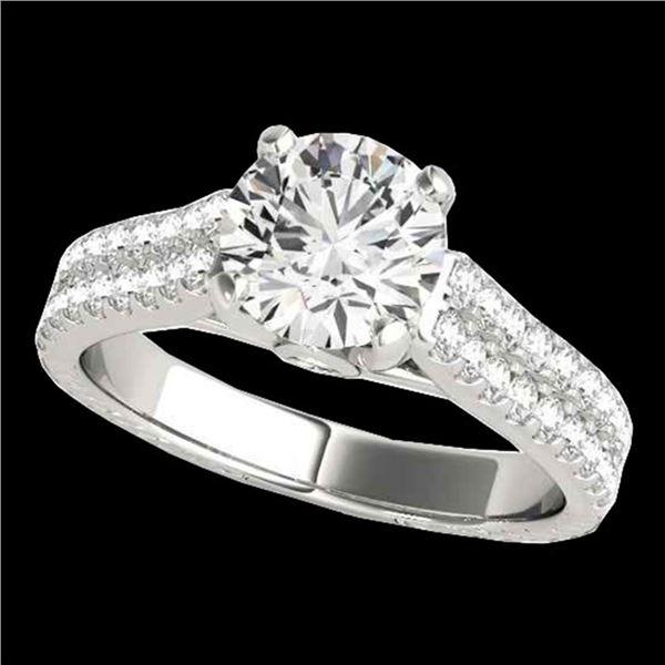 2.11 ctw Certified Diamond Pave Ring 10k White Gold - REF-334R3K