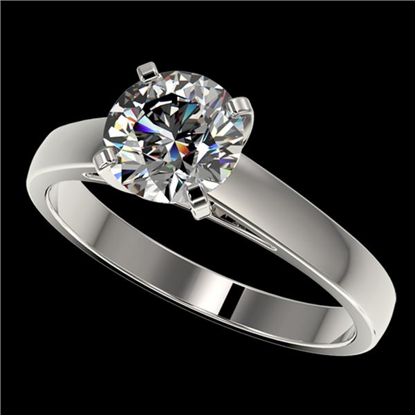 1.55 ctw Certified Quality Diamond Engagment Ring 10k White Gold - REF-236N3F