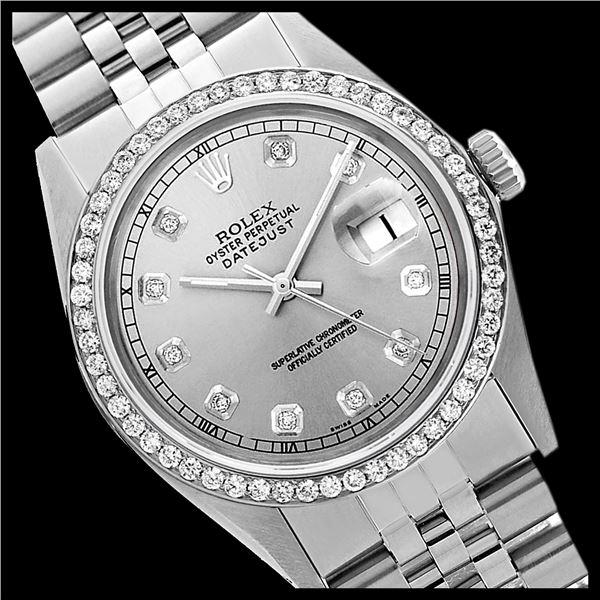 Rolex Ladies Stainless Steel, Diamond Dial & Diamond Bezel, Sapphire Crystal