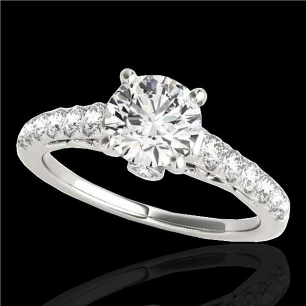 1.75 ctw Certified Diamond Solitaire Ring 10k White Gold - REF-231R8K