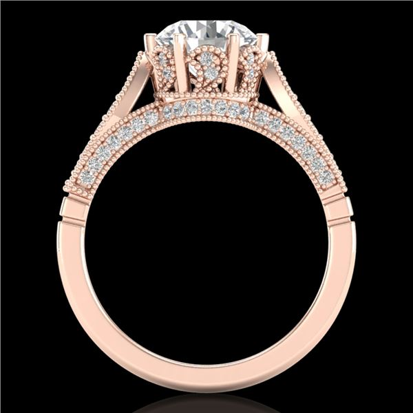 2.2 ctw VS/SI Diamond Art Deco Ring 18k Rose Gold - REF-725K5Y