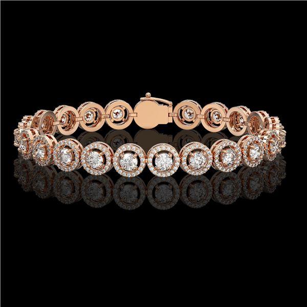 8.83 ctw Diamond Micro Pave Bracelet 18K Rose Gold - REF-695A5N