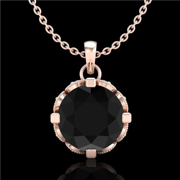1.5 ctw Fancy Black Diamond Art Deco Stud Necklace 18k Rose Gold - REF-101Y8X