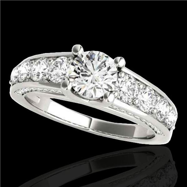 2.55 ctw Certified Diamond Solitaire Ring 10k White Gold - REF-259N3F