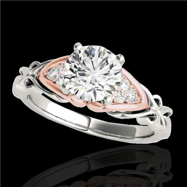 1.1 ctw Certified Diamond Solitaire Ring 10k 2Tone Gold - REF-177K3Y