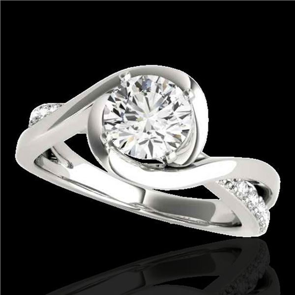 1.15 ctw Certified Diamond Solitaire Ring 10k White Gold - REF-190F9M