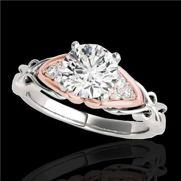 1.35 ctw Certified Diamond Solitaire Ring 10k 2Tone Gold - REF-238G6W
