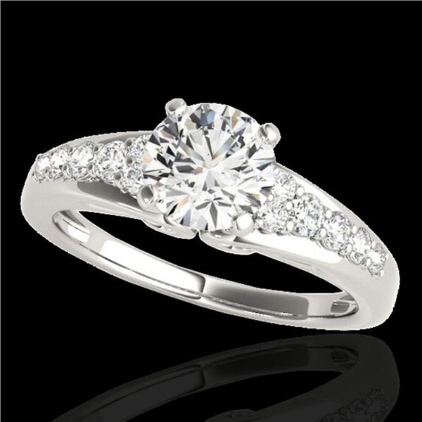 1.40 ctw Certified Diamond Solitaire Ring 10k White Gold - REF-190W9H