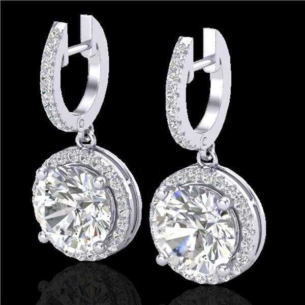 4.50 ctw Micro Pave VS/SI Diamond Certified Designer 18k White Gold - REF-1681A4N