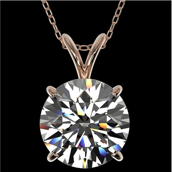 2.50 ctw Certified Quality Diamond Necklace 10k Rose Gold - REF-658R6K